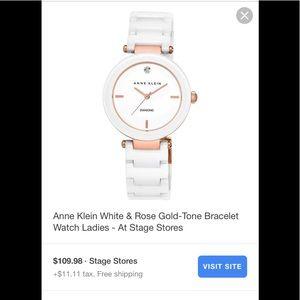 Anne Klein white watch AK/1018RGWTS